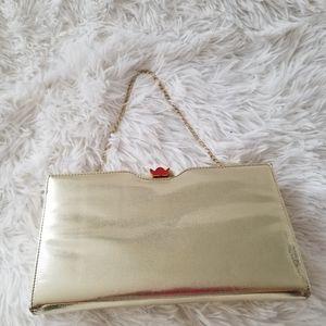 """Handbags - Vintage Golden Clutch, 9""""× 5""""."""